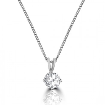 18ct White Gold 1.00ct Diamond Solitaire Pendant
