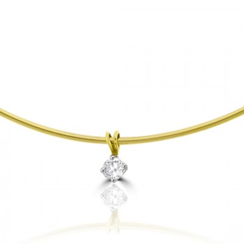 18ct Gold .50ct Diamond Solitaire Pendant