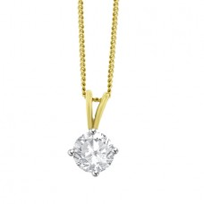 18ct Gold Solitaire .83ct Diamond Pendant