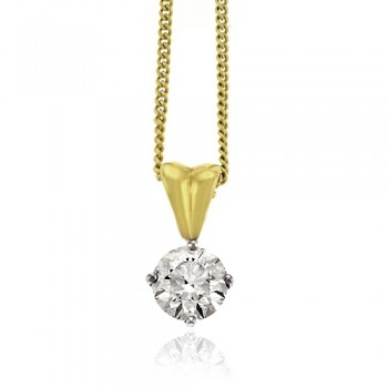 18ct Gold Solitaire Diamond Pendant