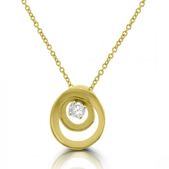 18ct Gold Diamond Cammilli Pendant