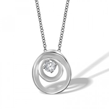 18ct White Gold Diamond Cammilli Pendant Chain