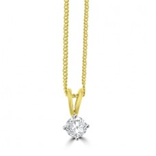 18ct Gold Solitaire .30ct Diamond Pendant