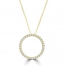 18ct Gold Diamond Circle of Life pendant chain