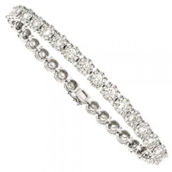 18ct White Gold Diamond Illusion-Tennis Bracelet