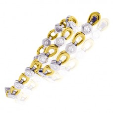 18ct Two-Tone Gold Diamond Horseshoe Bracelet