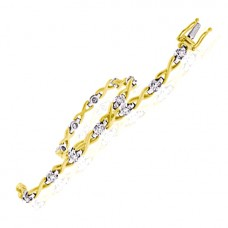 18ct Gold Diamond Kiss Bracelet