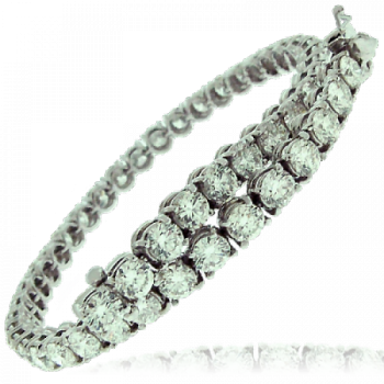 18ct White Gold 4.16ct Diamond Tennis Bracelet