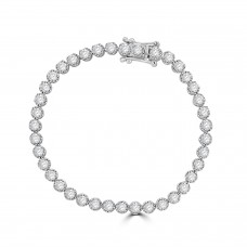18ct White Gold 4.00ct Diamond Tennis Bracelet