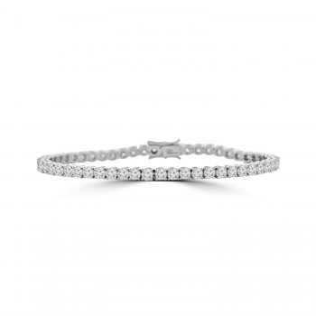 18ct White Gold 6.76ct Diamond Tennis Bracelet
