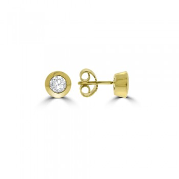 9ct Gold Solitaire .50ct Diamond Earring studs