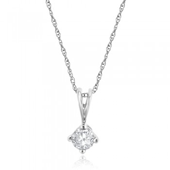 9ct Gold .30ct Diamond Solitaire Pendant chain