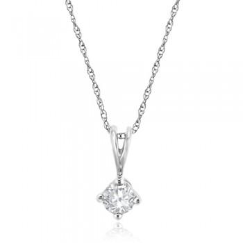 9ct Gold .30ct Diamond Solitaire Pendant chain