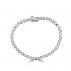 9ct White Gold .75ct Diamond Illusion Tennis Bracelet