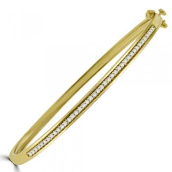 9ct Gold Diamond Bangle