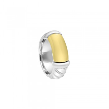 Sterling Silver & 18ct Gold Gemoro Ring