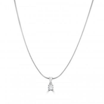 Sterling silver White stone Pendant Chain