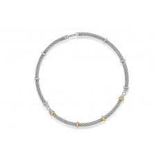 Sterling Silver & 18ct Gold Gemoro Collar