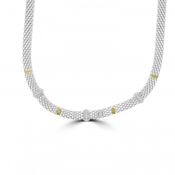 Sterling silver & 9ct Gold Mesh Collar