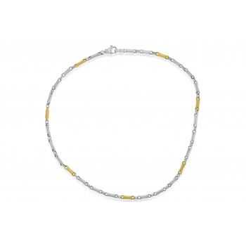 Sterling Silver & 9ct Gold Gemoro Necklet