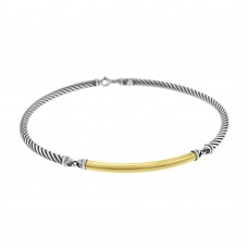 Sterling Silver & 18ct Yellow Gold Gemoro Collar