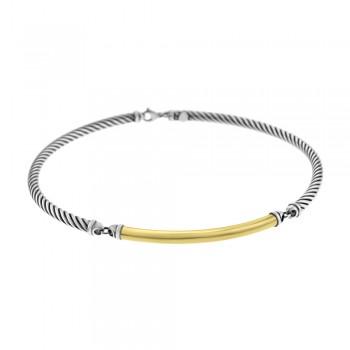 Sterling Silver & 18ct Yellow Gold Gemoro Collar