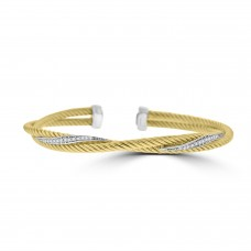 Sterling silver Two-tone Torque Bangle