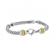 Sterling Silver & 18ct Yellow Gold Gemoro Bracelet