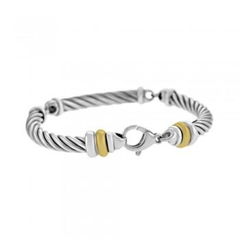 Sterling Silver & 18ct Yellow Gold Gemoro Bracelet