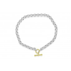 Sterling silver & 9ct Gold 18