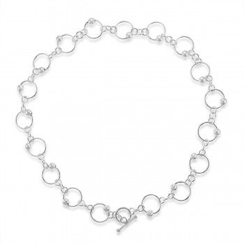Sterling silver Orbit T-Bar Chain