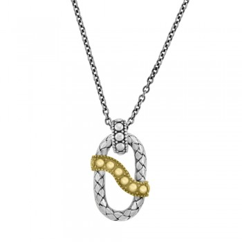 Sterling Silver & 18ct Yellow Gold Gemoro Pendant Chain
