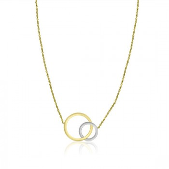 9ct Yellow & White Gold Interlocking Circles 16