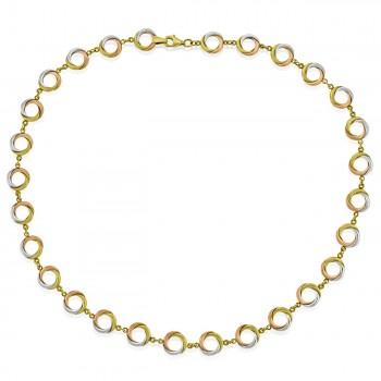 9ct Three-tone Gold 16