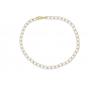 9ct Yellow & White Gold Rollerball Chain