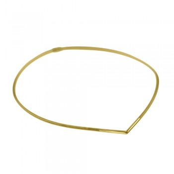 9ct Gold Flexi Collar with V-shape capped front