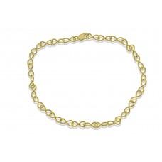 9ct Gold Handmade Infinity Chain