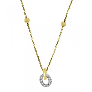 9ct Gold Cubic Zirconia Ring Pendant Chain