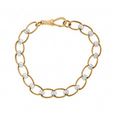 9ct Rose & White Gold Rollerball Bracelet