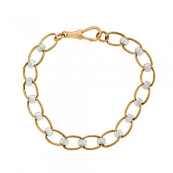 9ct Rose & White Gold Rollerball Bracelet