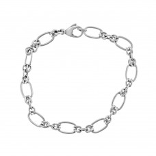 9ct White Gold Handmade Bracelet
