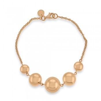 9ct Rose Gold Beaded Bracelet