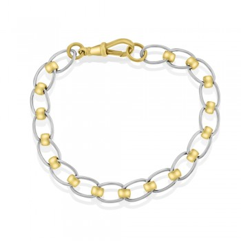 9ct Yellow & White Gold Rollerball Bracelet