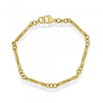 9ct Gold Trombone Bracelet