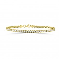 9ct Gold Cubic Zirconia Tennis Bracelet