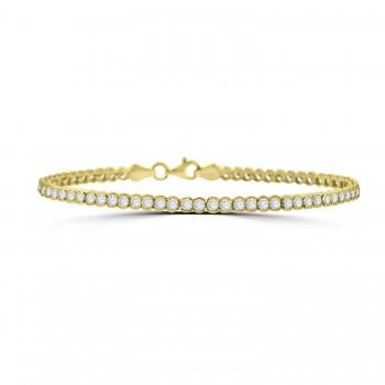 9ct Gold Cubic Zirconia Tennis Bracelet