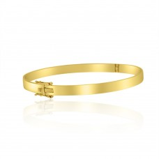9ct Yellow Gold Hinged Flat 5mm Bangle