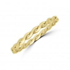 9ct Gold Twist Slave Bangle