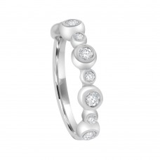 9ct White Gold 9-stone Cubic Zirconia Bubble Ring