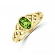 9ct Gold Peridot Dress Ring